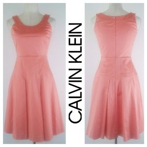 Calvin Klein Fit & Flare Dress 4 Petite